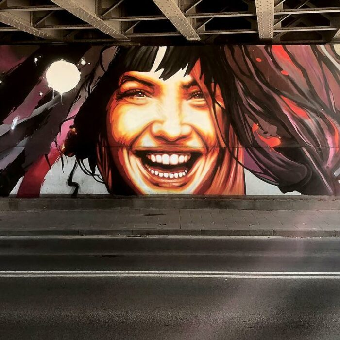 Titos i Tuse Wiadukt PKP Mural Gdańsk Wrzeszcz 2019